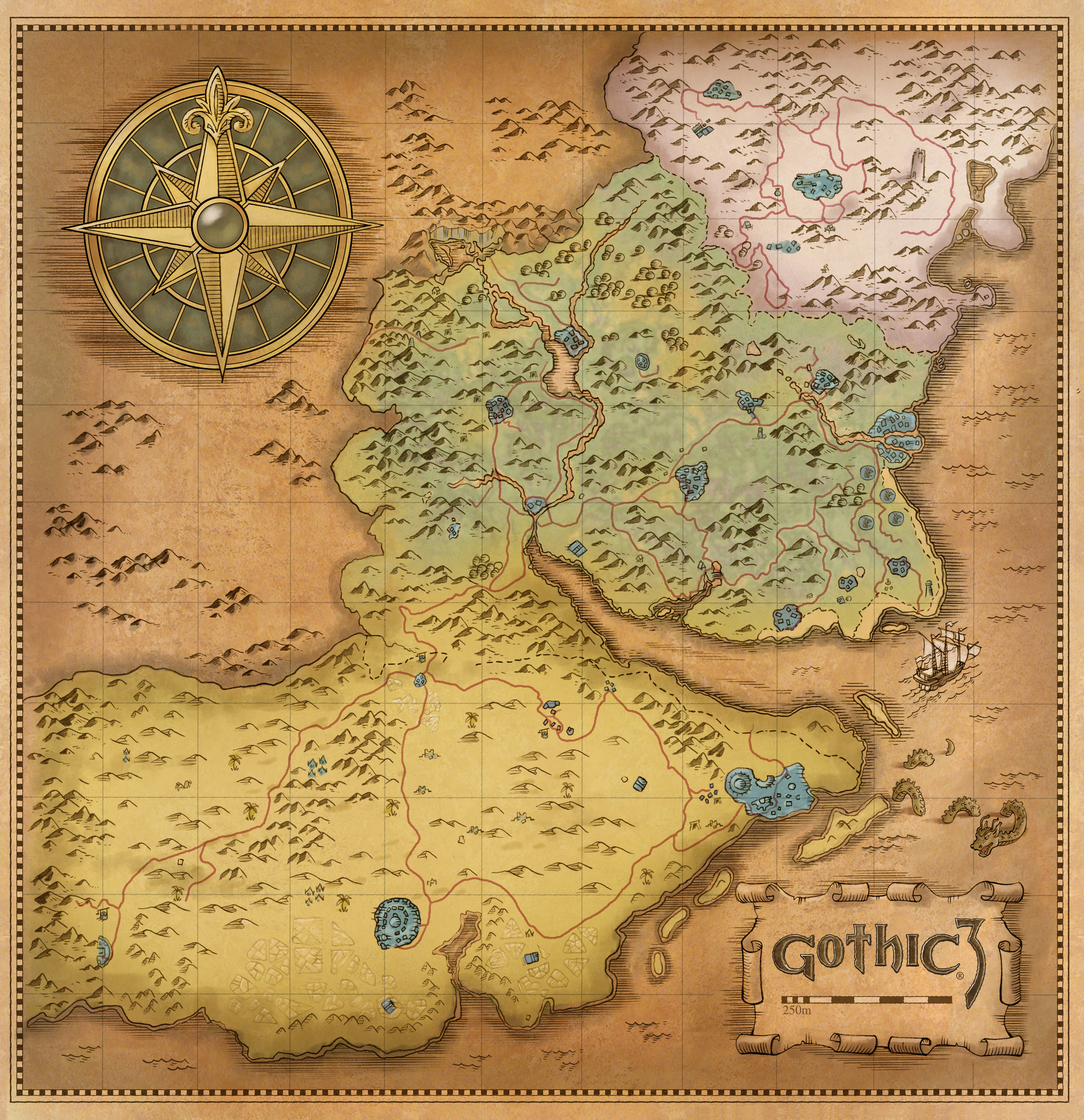 Gothic 3 Interactive Map