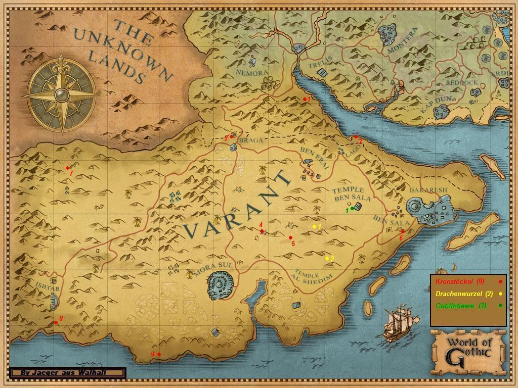 Gothic III interactive map (всё о Gothic 3 привязаное к карте) 1