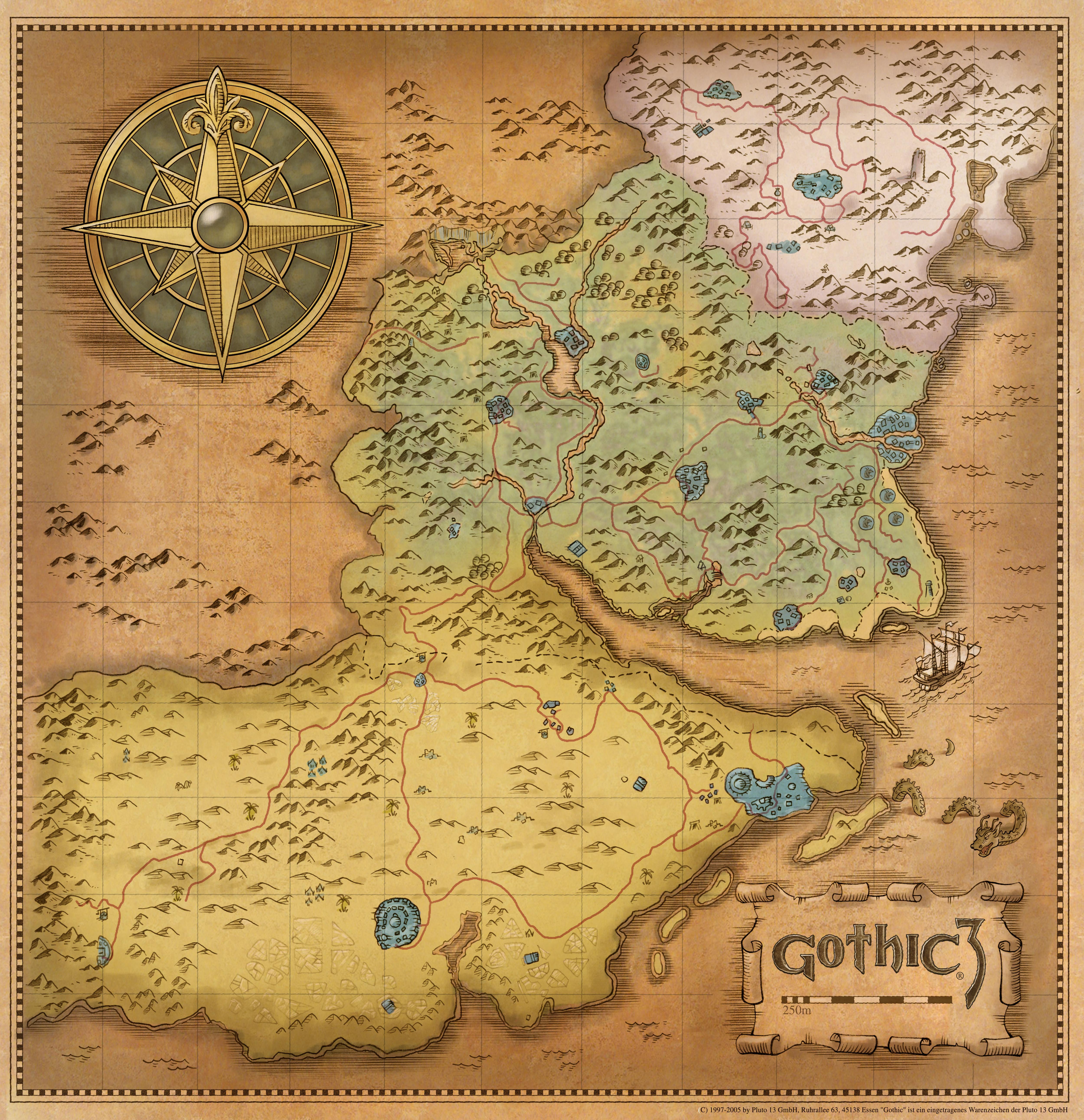Oblivion Karte.Größe Der Welt Von Gothic 3