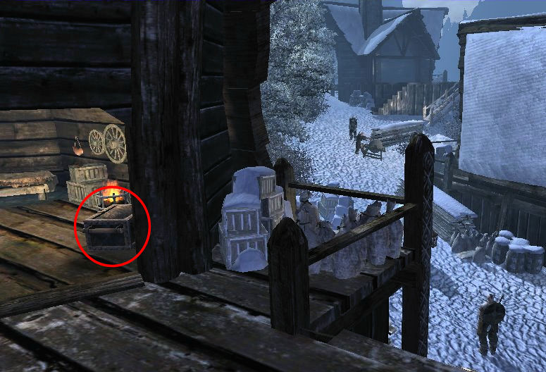 Walkthroughs maps lists and tips for gothic 3 in a chest in the depot behind rune malvernweather Images
