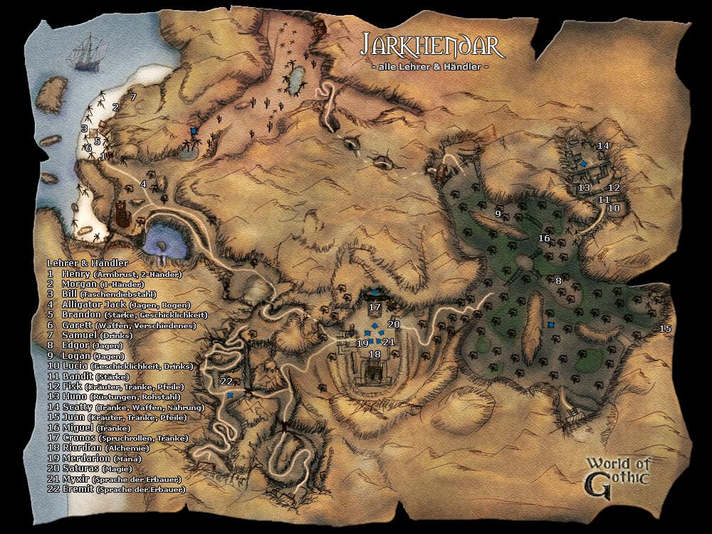 gothic 2 karte Karte von Jharkendar