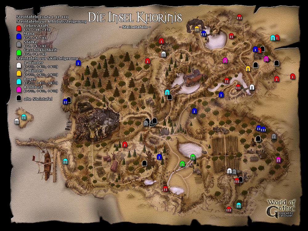 gothic 2 karte World of Gothic   Gothic II   Karten   Die Nacht des Rabens