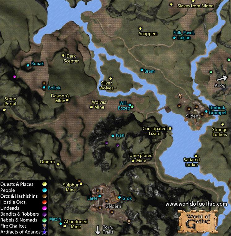 Карта Списочных Сундуков В Готике 3